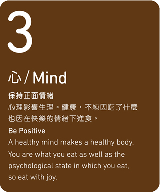 Phonetic similarity of the number 3 represent Mind. Be Positive.